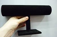 Валик под браслеты, одинарный, велюр, Цвет: черный, Размер: 150х225мм 28_1_14