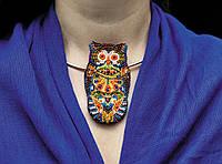 """Набор для вышивки бисером украшения на натуральном художественном холсте """"Сова"""""""