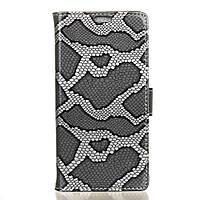 Чехол книжка для Lenovo K6 K33a48 боковой с отсеком для визиток, Змеиная кожа, серый