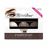 Kiss Набор для моделирования бровей Go Brow Dark Brown Brow Kit Go Brow Темно-коричневый