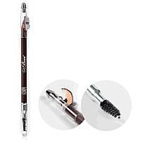 Kiss Карандаш для бровей с точилкой Dark Brown wooden pencil Темно-коричневый