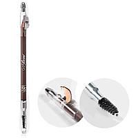 Kiss Карандаш для бровей с точилкой Light Brown wooden pencil Светло-коричневый