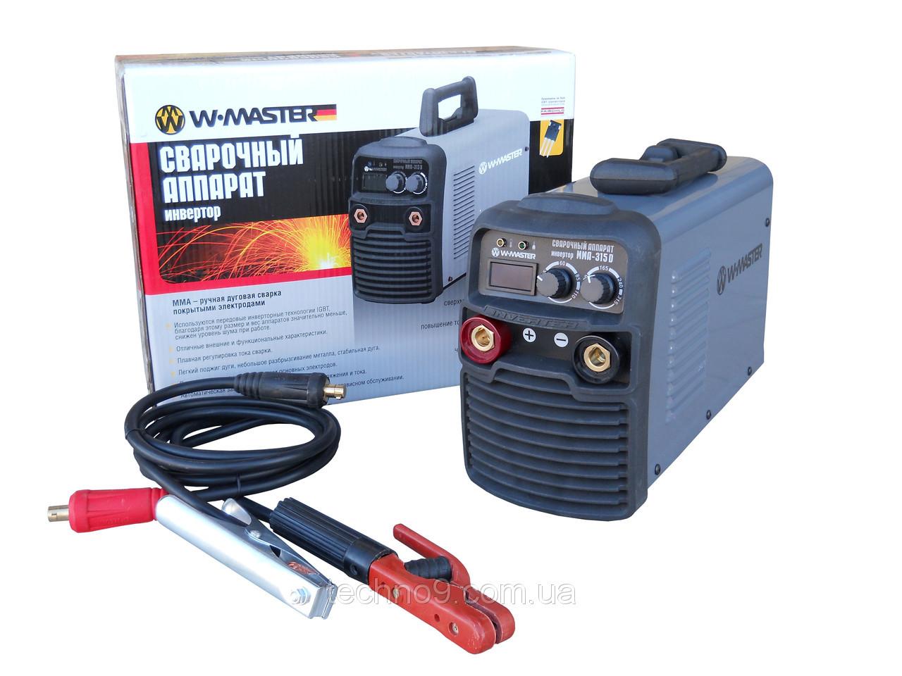 Сварочный инверторный аппарат WMaster MMA 315 D