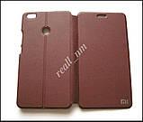 Чехол книжка для Xiaomi Mi Max, чехол Logo Stand коричневый, фото 3