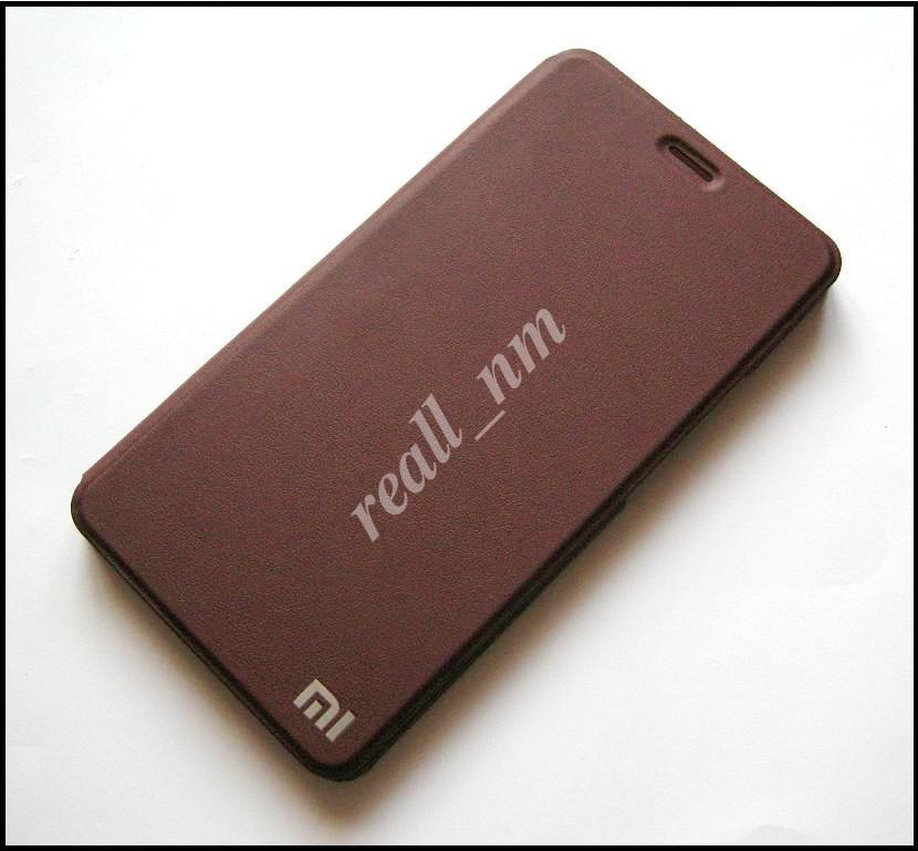 Чехол книжка для Xiaomi Mi Max, чехол Logo Stand коричневый