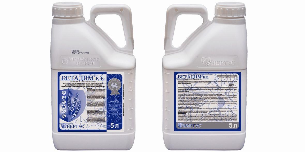 Инсектицид Бетадим (диметоат, 300 г/л + бета-циперметрин, 40 г/л) для пшеници, ячменя