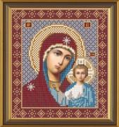 Рисунок на ткани для вышивания бисером Богородица Казанская БИС 9004