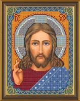 Рисунок на ткани для вышивания бисером Христос Спаситель БИС 9001
