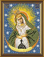 Рисунок на ткани для вышивания бисером Богородица Остробрамская БИС 9019