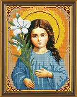 Рисунок на ткани для вышивания бисером Богородица «Трилетствующая» БИС 9020