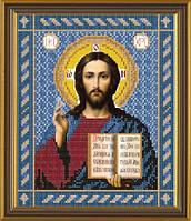 Рисунок на ткани для вышивания бисером Христос Спаситель БИС 9017