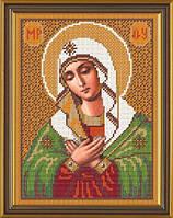 Рисунок на ткани для вышивания бисером Богородица «Умиление» БИС 9022