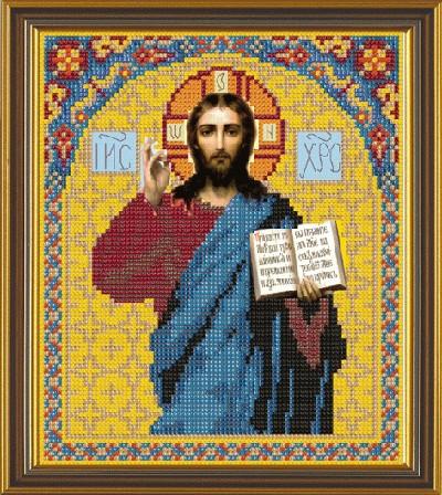 Рисунок на ткани для вышивания бисером Христос Спаситель БИС 9023