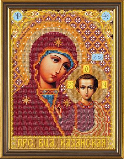 Рисунок на ткани для вышивания бисером Богородица Казанская БИС 9062