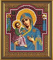 Рисунок на ткани для вышивания бисером Богородица Иерусалимская БИС 9067