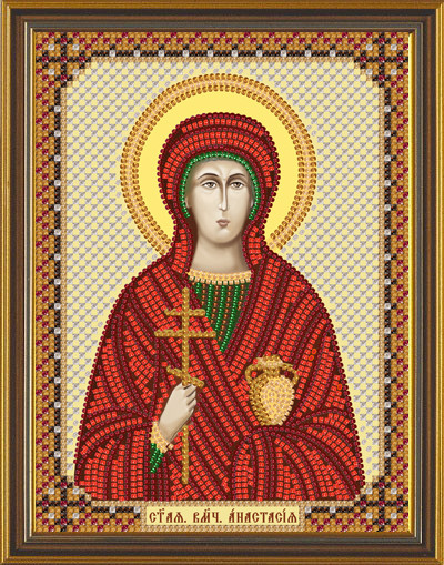 Рисунок на ткани для вышивания бисером Св. Вмц. Анастасия БИС С 6142