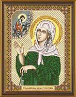 Рисунок на ткани для вышивания бисером Св. Блаженная Ксения Петербургская БИС С 6156
