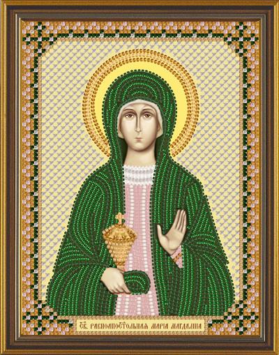 Рисунок на ткани для вышивания бисером Св. Равноап. Мария Магдалина БИС С 6162