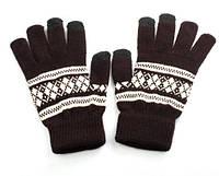 Зимние перчатки iPhone для сенсорных экранов  (с узором) Сенсорные перчатки