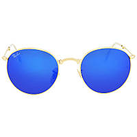 Солнцезащитные очки RAY BAN Round Metal Folding Blue Mirror Sunglasses RB35320016850