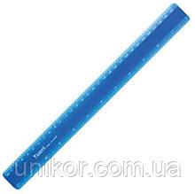Линейка пластиковая 30 см. синий. AXENT
