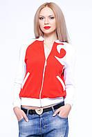 Женская кофта на змейке Катарина красная