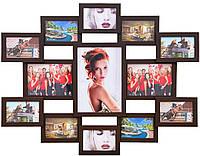 Мультирамка на 13 фотографий «Симметрия» цвет Венге
