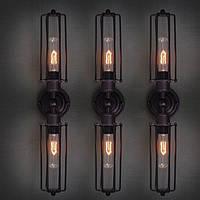 Настенно-потолочный светильник  сетка колба [ Wall Light Industrial Two ]