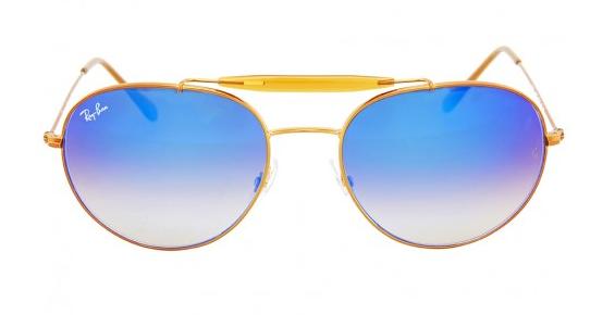 Солнцезащитные очки Ray-Ban Round Blue Gradient Flash RB35401988B56