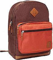 """Городской ежедневный рюкзак 16 л. — 16"""" Bagland Zanetti, 0011766 (Коричневый/кирпич)"""