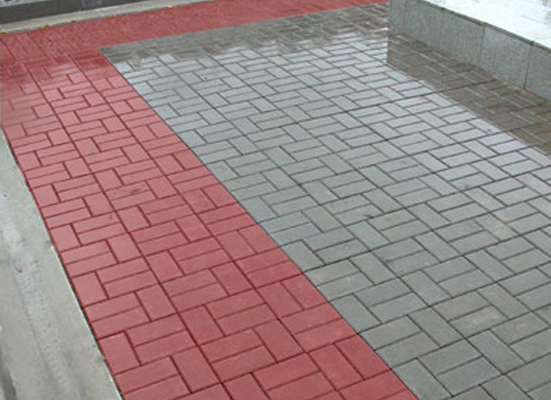 """Тротуарная плитка вибролитая """"Кирпич"""""""