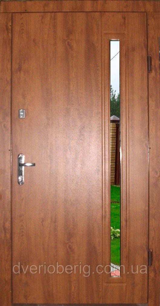 Входная дверь с окном модель П3- 272 vinorit-90 СТЕКЛО
