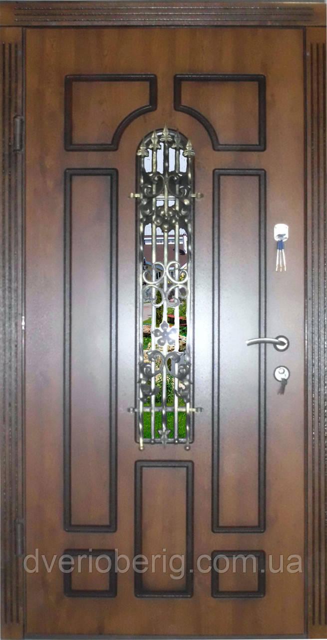 Входная дверь модель П5 217 vinorit-90 КОВКА  +ПАТИНА
