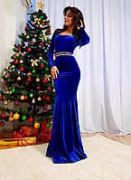 Вечернее платье в пол бархат, фото 1