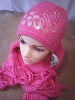 Шапочка с шарфиком махер
