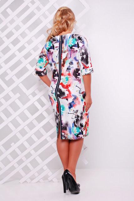 7e5d80a892f Женское Платье трикотажное Ксения красное (50-58)  продажа