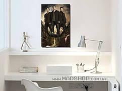Картина 40х60 см Сверхъестественное Винчестеры и Кас