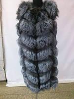 Меховая жилетка из чернобурки. длина 90см