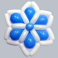 фигура Снежинка №1 из воздушных шаров