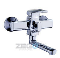 Смеситель для ванны ZEGOR NOF3, короткий гусак