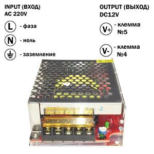 Блок живлення 120W для світлодіодної стрічки DC12 10А TR-120-12 металевий