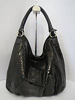 Черная сумка из натуральной кожи с лазерной накаткой Farfalla Rosso