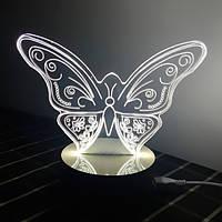 3D Ночник Butterfly: Оптический обман, превращающий 2D светильник в 3D