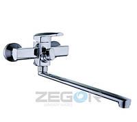 Смеситель для ванны ZEGOR NOF7, длинный гусак