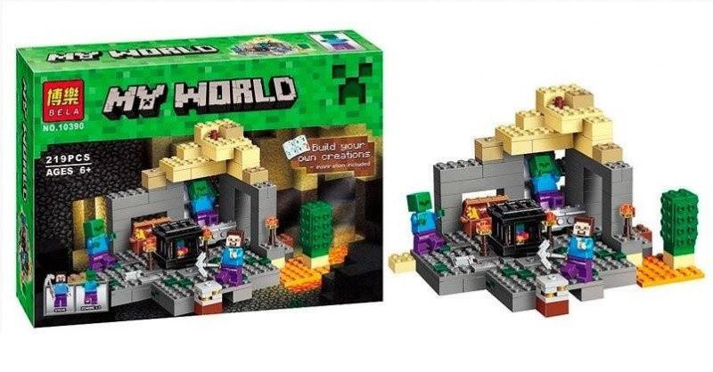 "Конструктор ""My World"", 10390 ""Темница"" Майнкрафт."