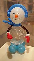 """фигура из воздушных шаров """"Снеговик со снежинкой"""""""