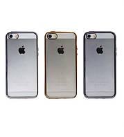 Прозрачный чехол для Apple iPhone 5 / 5S / SE с глянцевой окантовкой