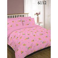 Постельное белье в детскую кроватку 6112 розовый  ранфорс ТМ Вилюта мишки
