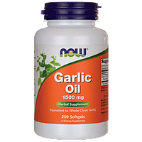 Чесночное масло, Garlic Oil, Now Foods, 1500 мг, 250 капсул