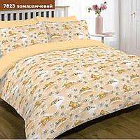 Постельное белье в детскую кроватку 7823 оранжевый  ранфорс ТМ Вилюта мишки